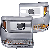 Driver and Passenger Side Without bulb(s) Headlight, Without bulb(s)