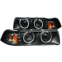 121011 Driver and Passenger Side Halogen Headlight, With bulb(s)