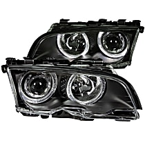 121013 Driver and Passenger Side Halogen Headlight, With bulb(s)