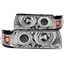 121326 Driver and Passenger Side Headlight, With bulb(s)