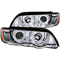 121397 Driver and Passenger Side Halogen Headlight, With bulb(s)