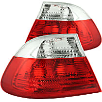 221217 Driver and Passenger Side Tail Light, Without bulb(s)