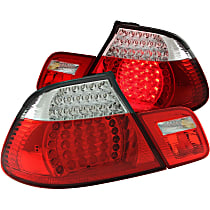 321185 Driver and Passenger Side, Inner and Outer Tail Light, With bulb(s)