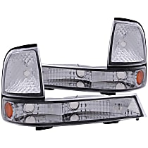 Driver and Passenger Side Parking Light, With bulb(s)