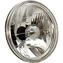 Headlight Conversion Kit - Clear Lens; Chrome Interior, Sealed beam, Semi-Universal, Sold individually