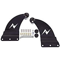Anzo 851041 Light Bar Mounting Kit - Powdercoated Black, Direct Fit, Set of 2