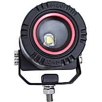 861186 LED Offroad Light - Clear Lens; Black Interior, Universal, Sold individually