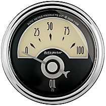 1126 Oil Pressure Gauge - Electric Air-Core, Universal, Sold individually