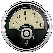 Autometer 1126 Oil Pressure Gauge - Electric Air-Core, Universal, Sold individually