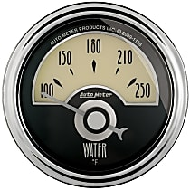 Autometer 1136 Water Temperature Gauge - Electric Air-Core, Universal, Sold individually