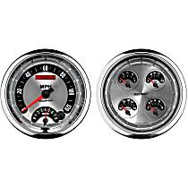 1205 Gauge Set - Electric, Speedometer/Tachometer; Oil Pressure Gauge; Water Temperature Gauge; Voltage Gauge; Fuel Level Gauge, Universal, Set of 2