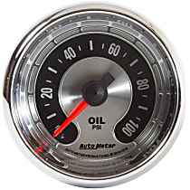 1219 Oil Pressure Gauge - Mechanical, Universal, Sold individually