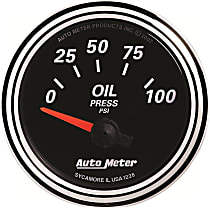 1228 Oil Pressure Gauge - Electric Air-Core, Universal, Sold individually