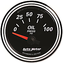 Autometer 1228 Oil Pressure Gauge - Electric Air-Core, Universal, Sold individually