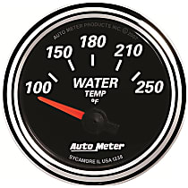 Autometer 1238 Water Temperature Gauge - Electric Air-Core, Universal, Sold individually