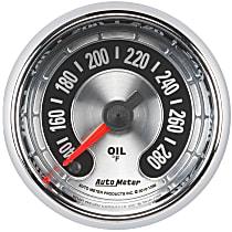Autometer 1256 Oil Temperature Gauge - Electric Digital Stepper Motor, Universal