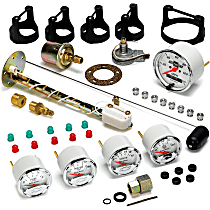 1302-00408 Gauge Set - Electric, Speedometer; Oil Pressure Gauge; Water Temperature Gauge; Voltage Gauge; Fuel Level Gauge, Universal, Set of 5