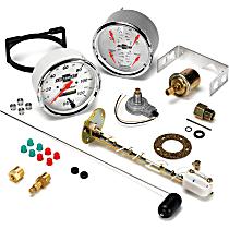 1303-00408 Gauge Set - Electric, Speedometer; Oil Pressure Gauge; Water Temperature Gauge; Voltage Gauge; Fuel Level Gauge, Universal, Set of 2
