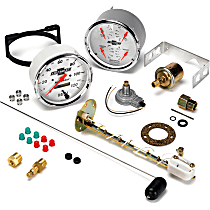 Gauge Set - Electric, Speedometer; Oil Pressure Gauge; Water Temperature Gauge; Voltage Gauge; Fuel Level Gauge, Universal, Set of 2