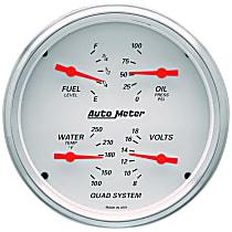 1303 Gauge Set - Electric, Speedometer; Oil Pressure Gauge; Water Temperature Gauge; Voltage Gauge; Fuel Level Gauge, Universal, Set of 2