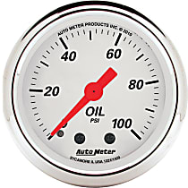 Autometer 1321 Oil Pressure Gauge - Mechanical, Universal, Sold individually
