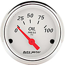 Autometer 1327 Oil Pressure Gauge - Electric Air-Core, Universal, Sold individually