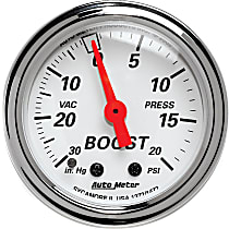 Autometer 1372 Boost Gauge - Mechanical, Universal, Sold individually