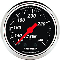 Autometer 1432 Water Temperature Gauge - Mechanical, Universal, Sold individually