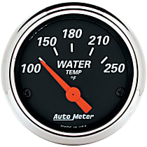 Autometer 1436 Water Temperature Gauge - Electric, Universal, Sold individually