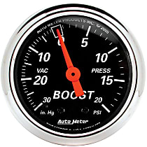 Autometer 1471 Boost Gauge - Mechanical, Universal, Sold individually