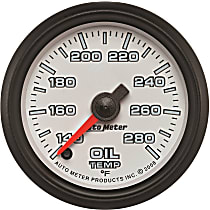 Autometer 19540 Oil Temperature Gauge - Digital Stepper Motor, Universal