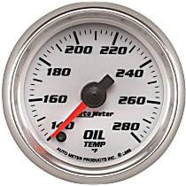 Autometer 19740 Oil Temperature Gauge - Digital Stepper Motor, Universal