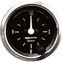 Autometer 201019 Clock - Electric, 12 Hour, Universal