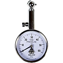 Autometer 2343 Tire Pressure Gauge - Mechanical, Universal, Sold individually