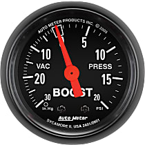 Autometer 2601 Boost Gauge - Mechanical, Universal, Sold individually