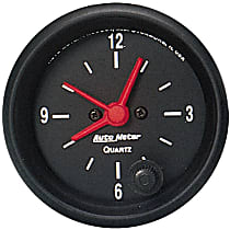 Autometer 2632 Clock - Electric, 12 Hour, Universal
