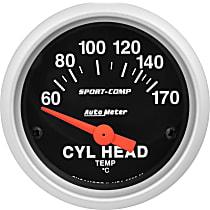 Autometer 3336-M Cylinder Head Temperature Gauge - Electric, Universal