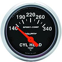 Autometer 3336 Cylinder Head Temperature Gauge - Electric, Universal