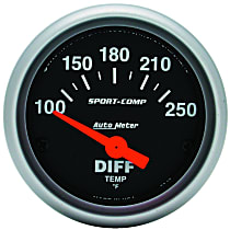 Autometer 3349 Differential Temperature Gauge - Electric, Universal