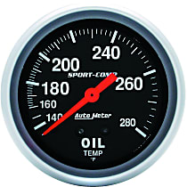 Autometer 3443 Oil Temperature Gauge - Mechanical, Universal