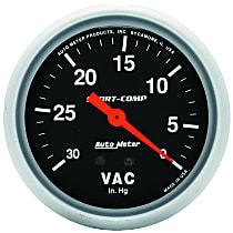 Autometer 3484 Vacuum Gauge - Mechanical, Universal