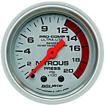 Autometer 4328 Nitrous Pressure Gauge - Mechanical, Universal