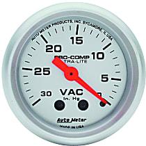 Autometer 4384 Vacuum Gauge - Mechanical, Universal