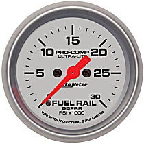 Autometer 4393 Fuel Pressure Gauge - Electric Digital Stepper Motor, Direct Fit