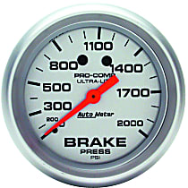 Autometer 4426 Brake Pressure Gauge - Mechanical, Universal, Sold individually