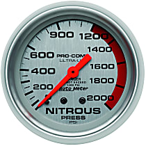 Autometer 4428 Nitrous Pressure Gauge - Mechanical, Universal