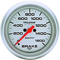 Autometer 4467 Brake Pressure Gauge - Electric, Universal, Sold individually