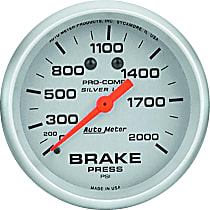Autometer 4626 Brake Pressure Gauge - Mechanical, Universal, Sold individually