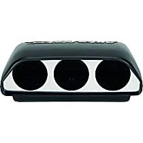 Gauge Pod - Black, Plastic, Universal, Sold individually