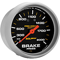 Autometer 5426 Brake Pressure Gauge - Mechanical, Universal, Sold individually